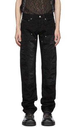 Helmut Lang - Black Masc Lo Utility Jeans