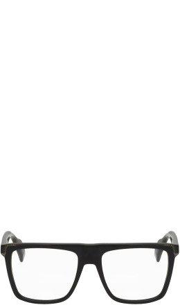 Yohji Yamamoto - Black Flat Top Two-Tone Glasses