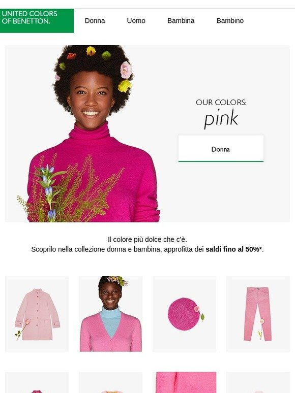 137b6c753cda United Colors of Benetton: Our colors: pink | Milled