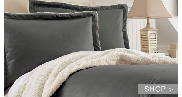WINTER NIGHTS: SHERPA AND DOWN COMFORTER SETS