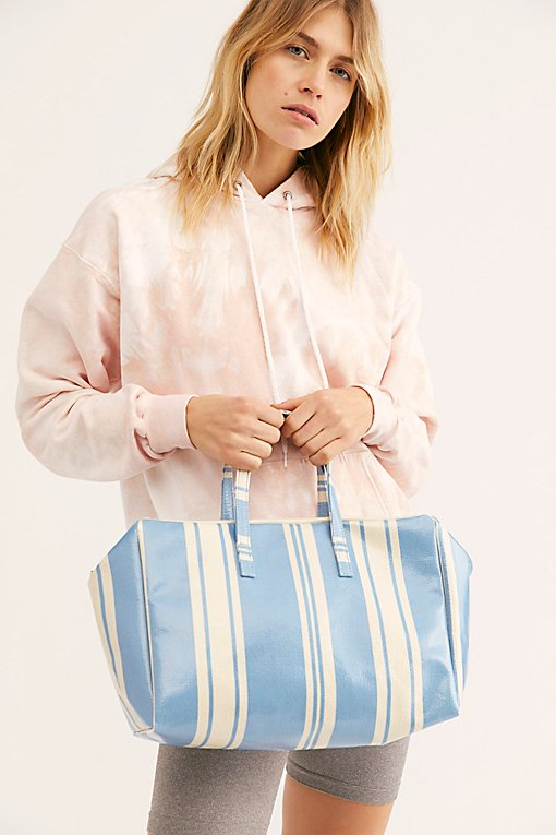 Clementine Striped Square Duffle