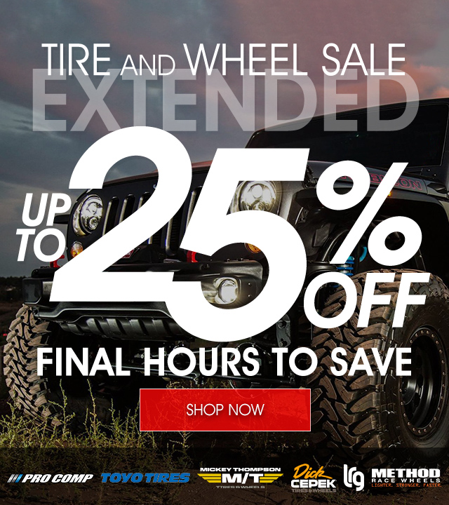 Tire & Wheel Sale Extended