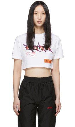 Heron Preston - White Cropped 'Body' T-Shirt