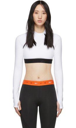 Reebok By Victoria Beckham - White Crop Long Sleeve T-Shirt