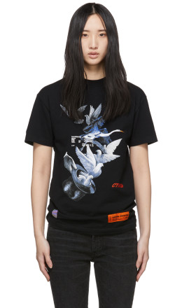 Heron Preston - Black Doves Fitted T-Shirt