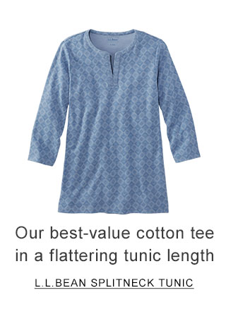 Our best-value cotton tee in a flattering tunic length