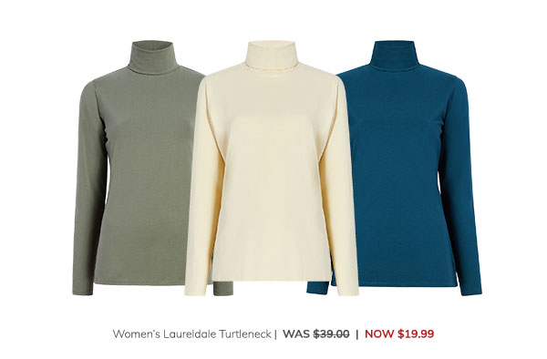 Women's Laureldale Turtleneck Was: $39.00 Now: $19.99