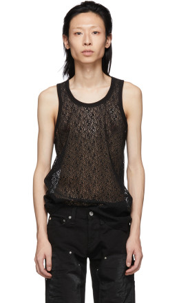 Helmut Lang - Black Lace Tank Top