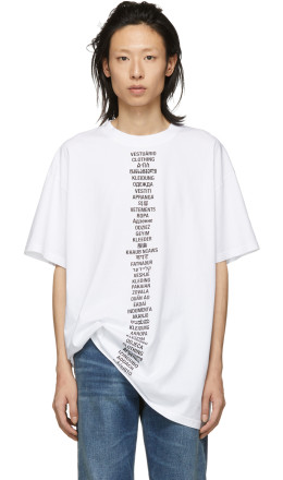 Vetements - White Translated T-Shirt