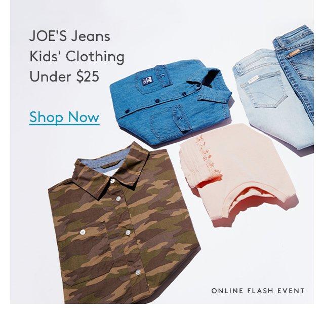 JOE'S Jeans | Kids' Clothing Under $25 | Shop Now | Online Flash Event