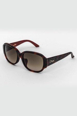 Ladies Oval Frame Sunglasses in Havana/Brown Gradient