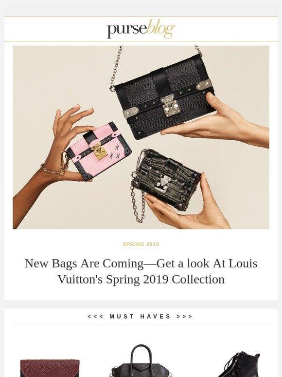 e8fb5630f39 PurseBlog: Louis Vuitton Debuts New Spring 2019 Bags in Its Ad ...