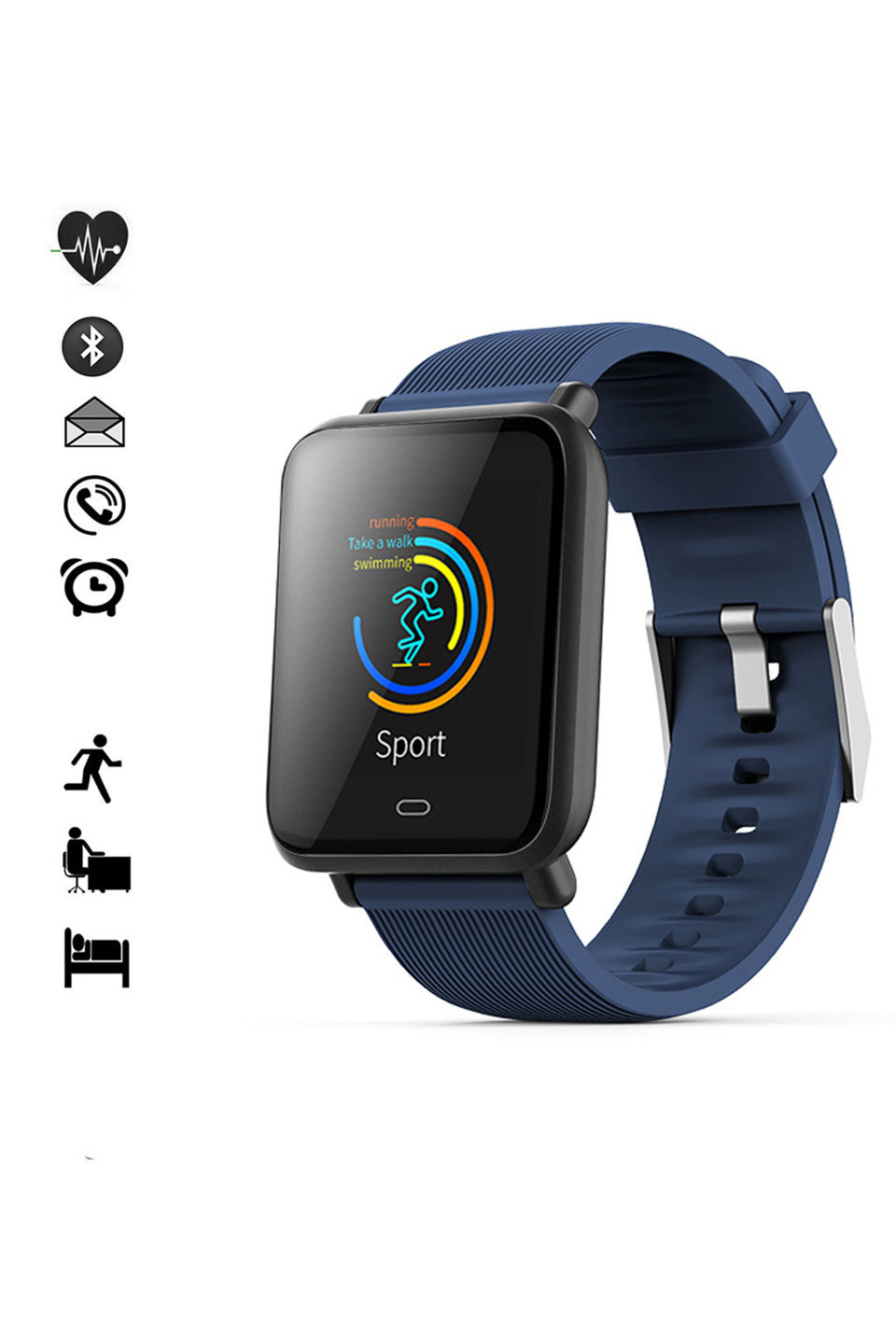 IOS Compatible Strap with Bluetooth in Blue