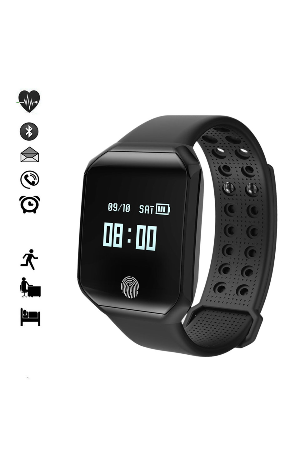 IOS Compatible Strap with Bluetooth in Black