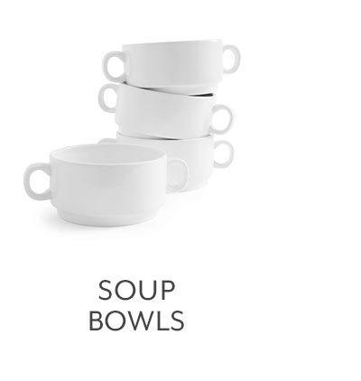 Double-Handle Soup Bowls