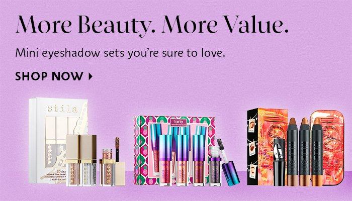More Beauty. More Value Mini Eyeshadows