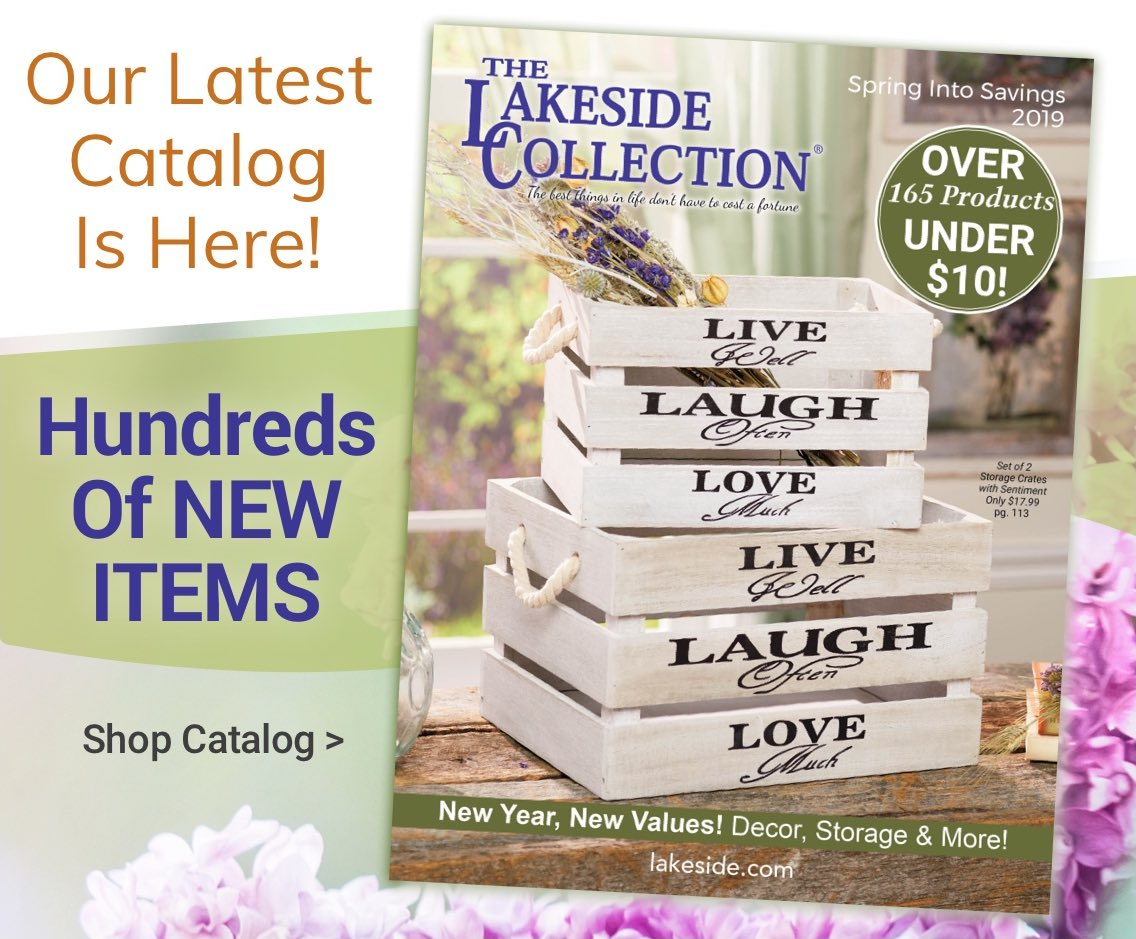 Lakeside Collection: Our Latest Catalog--Hundreds Of NEW Items | Milled