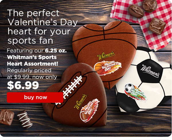 Russell Stover Candies Flash Sale 30 Off Sports Heart Assortment