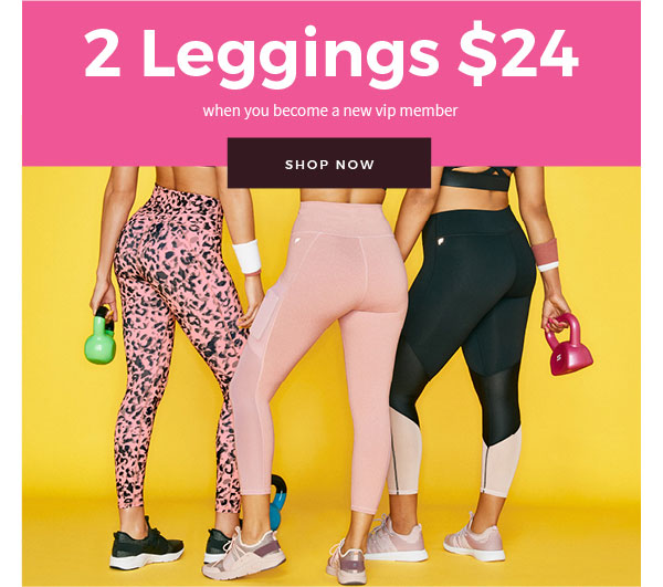 Special Offer from Fabletics: Shop 2 Leggings for $24