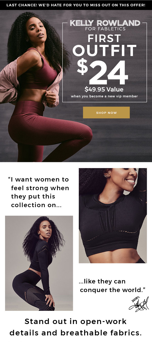 LAST CHANCE! Special Offer from Fabletics: 1st Outfit $24