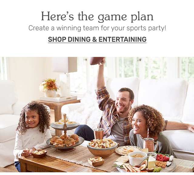 Shop dining and entertaining.
