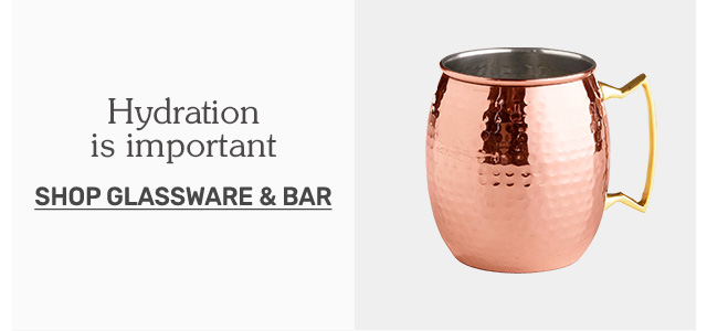 Shop glassware and bar.