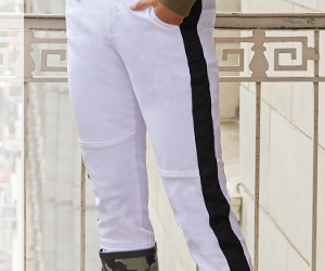 HIGH RISE BELTED SIDE STRIPED JOGGER