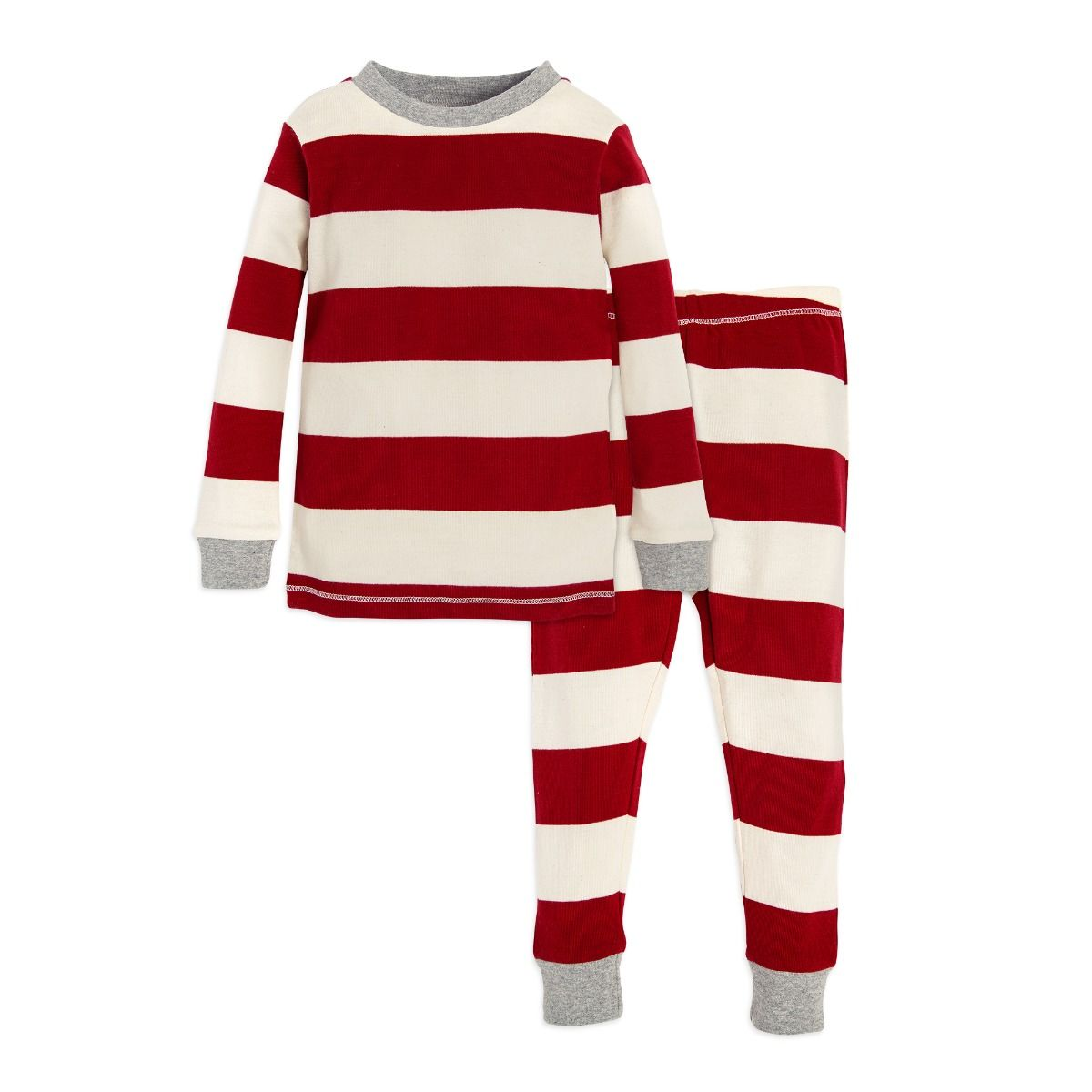 Rugby Stripe Organic Toddler Holiday Matching Pajamas