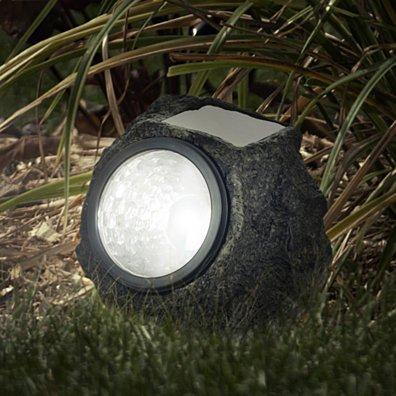 Pure Garden LED Solar Rock Landscaping Lights - Set of 4