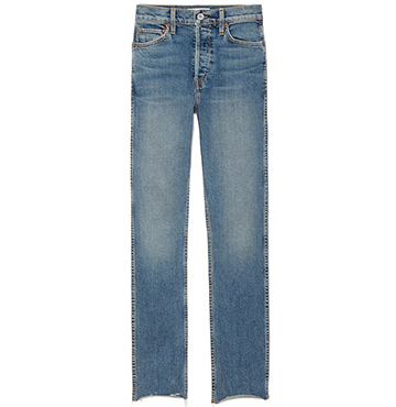 RE/DONE Double Needle Cropped Jeans $250
