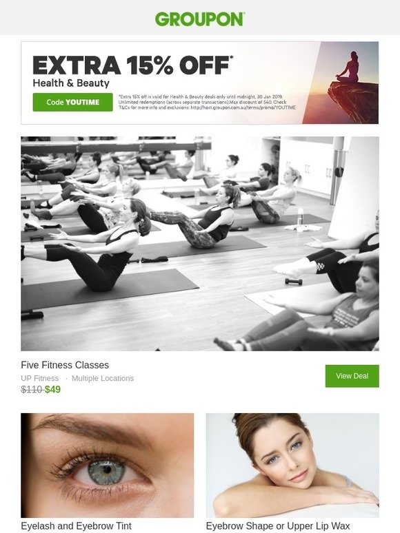 Groupon Time To Shine Extra 15 Off Health Beauty Today