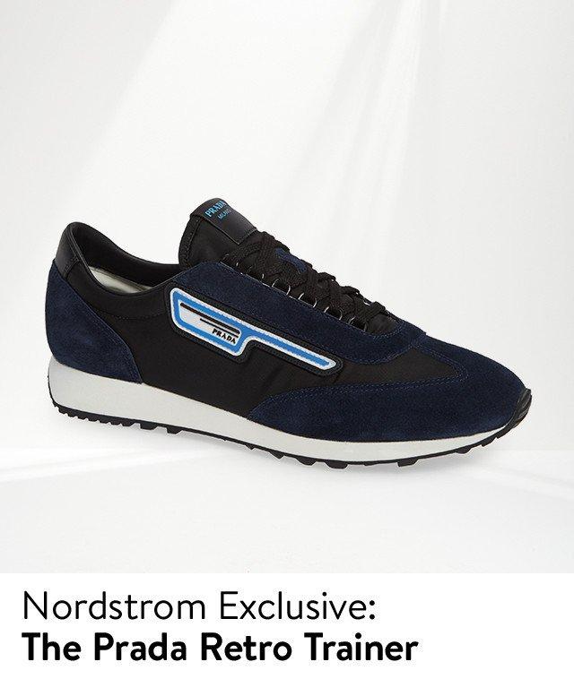Nordstrom exclusive, the Prada retro trainer.