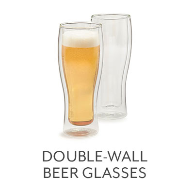 Double-Wall Beer Glasses