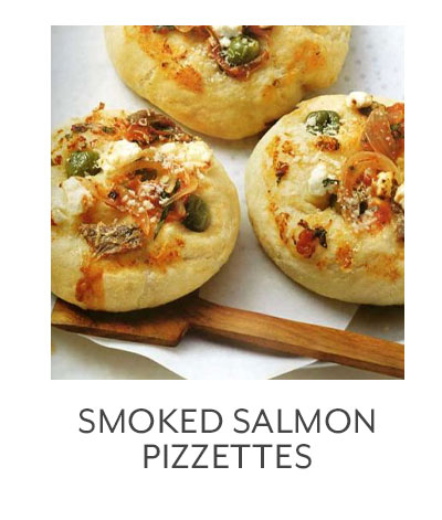 Smoked Salmon Pizzettes