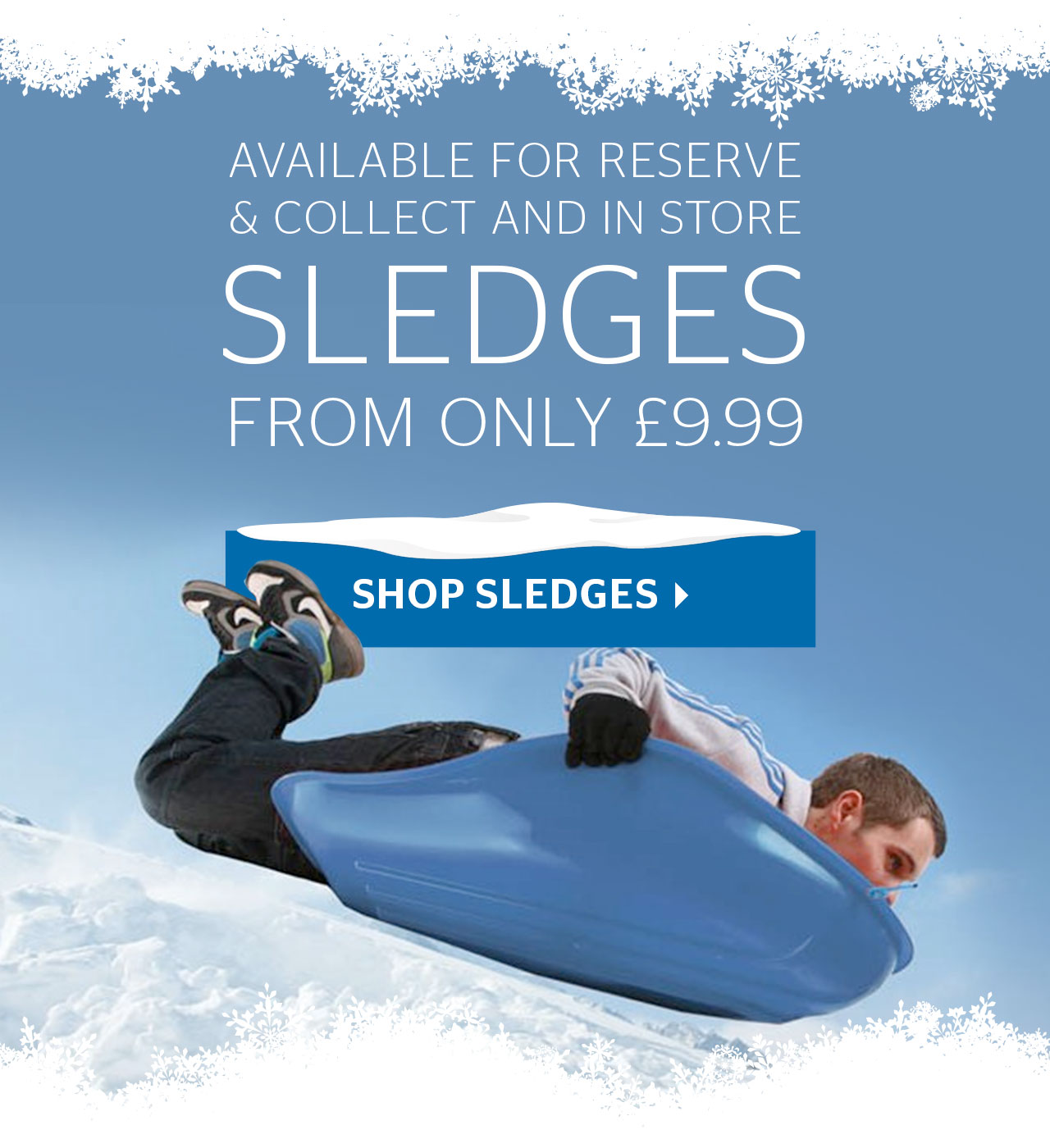 Sledges from only £9.99