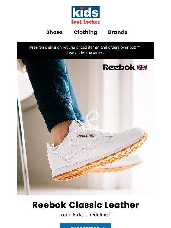 fded8873242 Kids Foot Locker  Reebok Classic Leather.