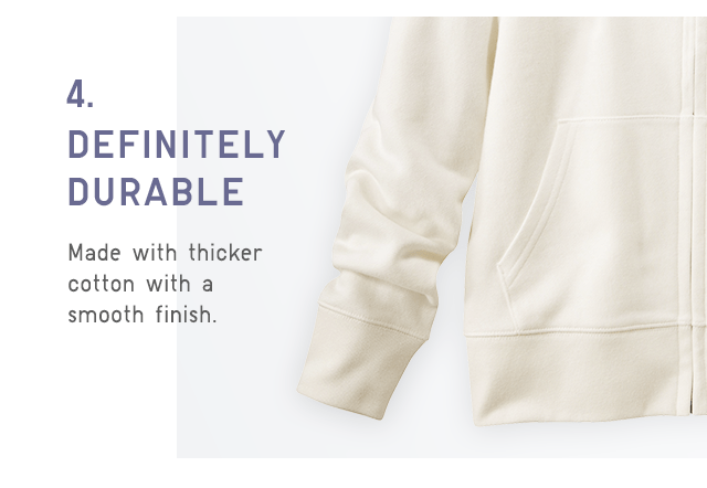 MADE WITH THICKER COTTON WITH A SMOOTH FINISH.