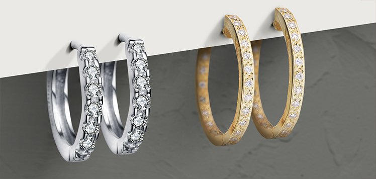 Diamond & More Hoops We're Wearing