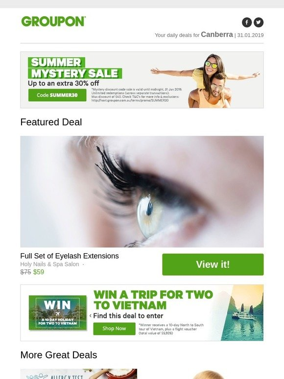 Groupon Stardeals Au 5 To 30 Extra Discount Sitewide Full Set