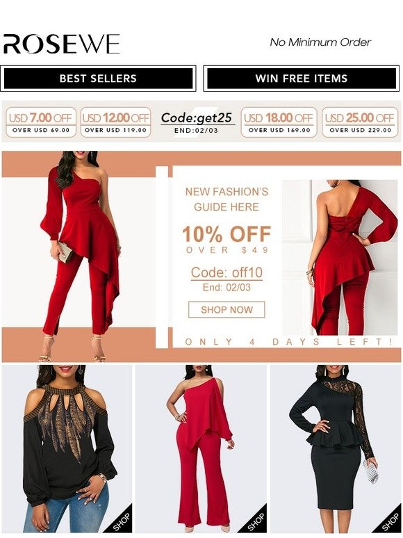 534a3b7829 Rosewe: Rosewe! Down to $9.99 For Swimwears & Dresses in Flash Sale! |  Milled