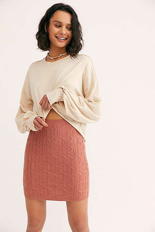 Link Up Cable Mini Skirt