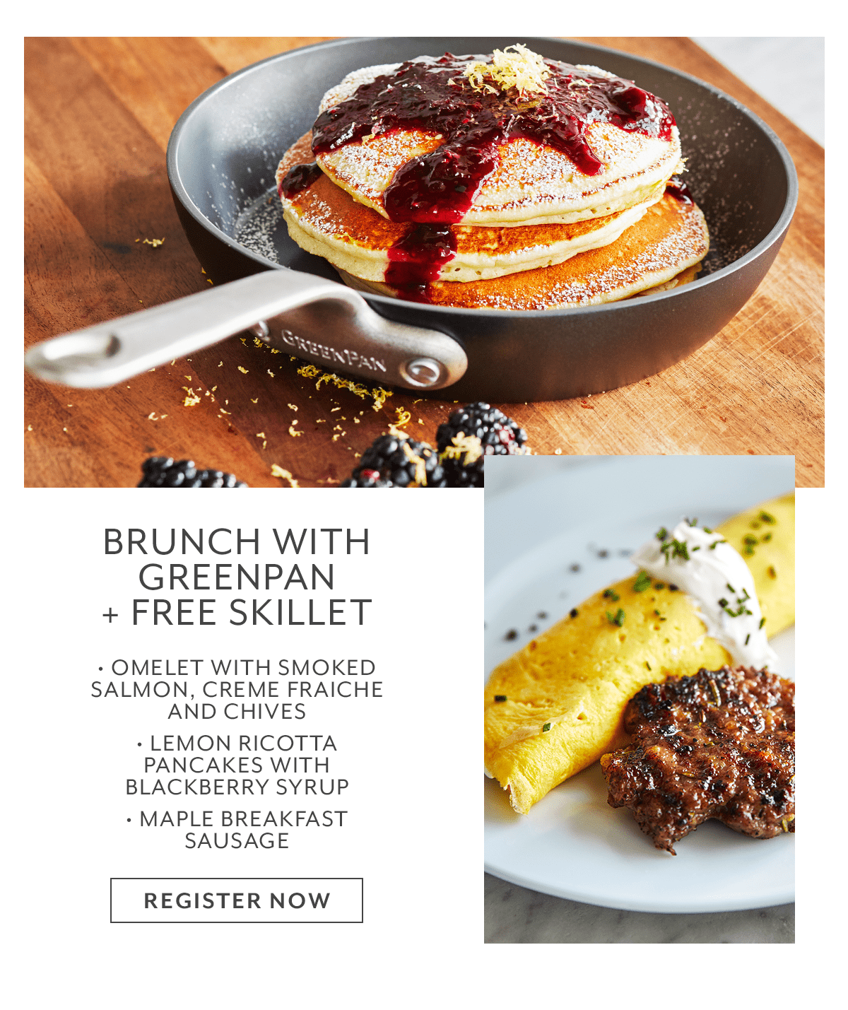 Class - Brunch with GreenPan + Free Skillet