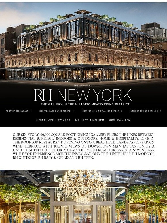 Restoration Hardware Rh New York Visit The Rh Rooftop