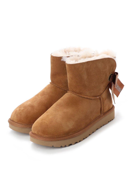 Customizable Bailey Bow Mini Boot in Chestnut