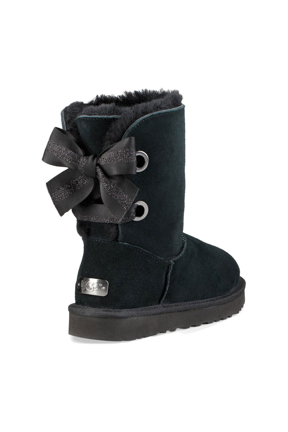 Customizable Bailey Bow Short Boot in Black