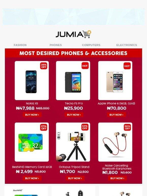 Jumia Nigeria 2: Most Desired Phones & Accessories! Tecno F3