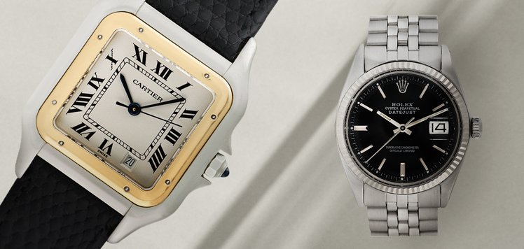 Men's Vintage Watches With Rolex & Cartier