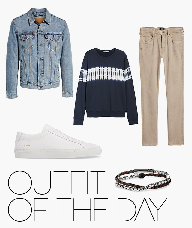 Outfit of the day: casual spring layers for men.