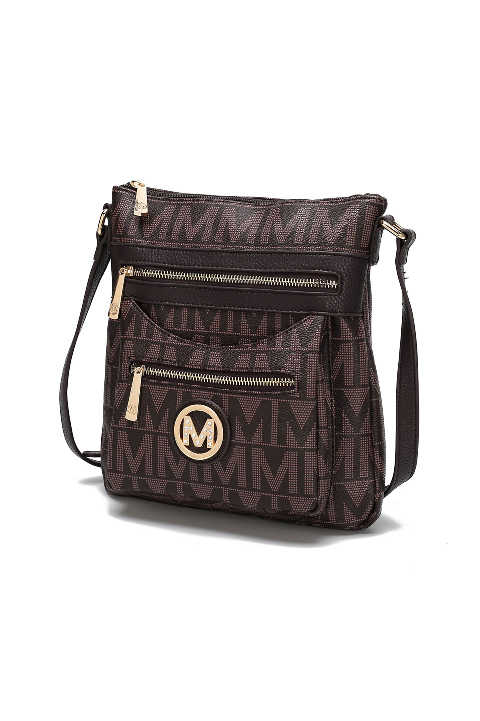 Saniya M Signature Crossbody Bag in Chocolate