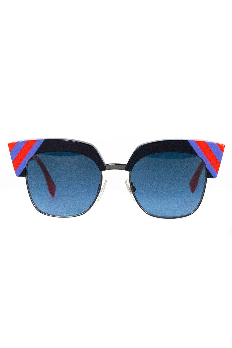 Renna Sunglasses in Blue and Red